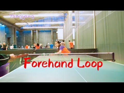 21.How to play forehand loop——Yangyang's table tennis lessons