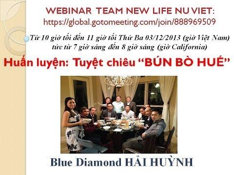 """Huấn Luyện: Tuyệt Chiêu BBH """"BÚN BÒ HUẾ"""" - Blue Diamond Hải Huỳnh"""