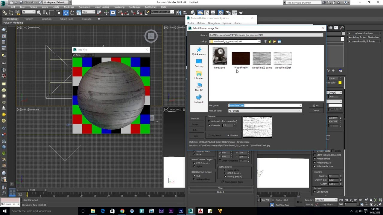 mat Vray Material How to insart In 3Ds Max 2016