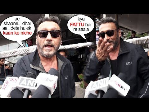 Jackie Shroff Trolls & SCARES A Media Reporter During Interview
