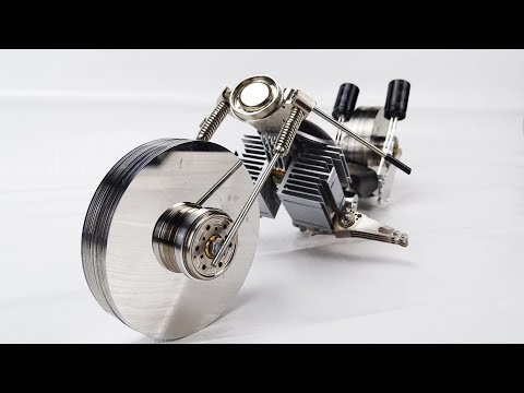 Motorcycle Made Out Of Recycled Computer Parts - Diy Project