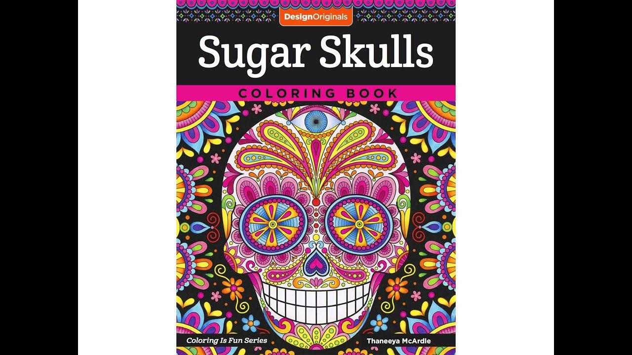 sugar skulls coloring book slideshow