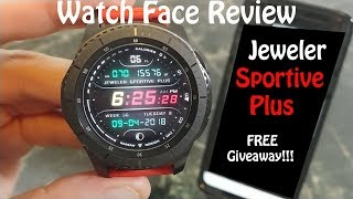 Watch Face Review with FREE Giveaway: Jeweler Sportive Plus Galaxy Watch Gear S3 Gear Sport