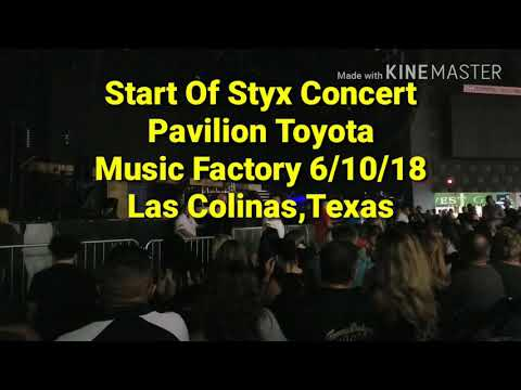 Styx, Intro Of Concert, Pavillion At Toyota Music Factory, Las Colinas, Tx. 6/10/18