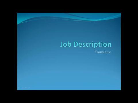 Translator job description