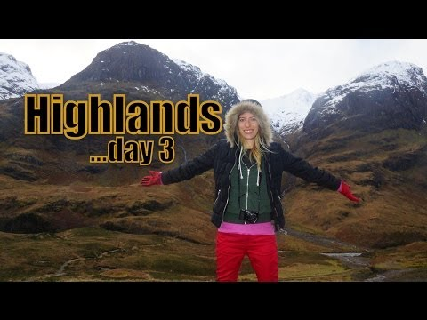 Touring the Scottish Highlands heading from the Isle Skye back to Edinburgh with Haggis Adventures