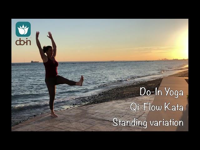 Do-In Yoga | Qi-Flow Salutation standing variation | demonstration