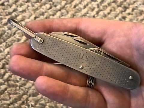 1973 Camillus Military Usgi Issue Folding Knife Youtube