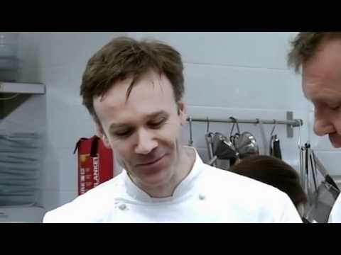 Marcus Wareing watches Aiden and Nigel prepare starters