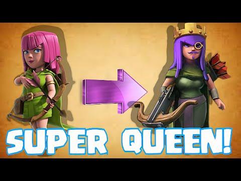 Clash Of Clans - STRONGEST QUEEN EVER!!! (Super Queen 3 Star Wars)
