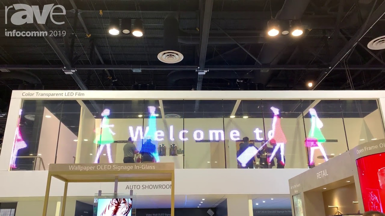 InfoComm 2019: LG Shows Off Its Color Transparent LED Film