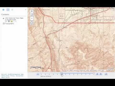 USGS Historical Maps in ArcGIS Online:  Animation