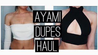 Are You Am I (AYAMI) Dupes Try-On Haul | Aliexpress