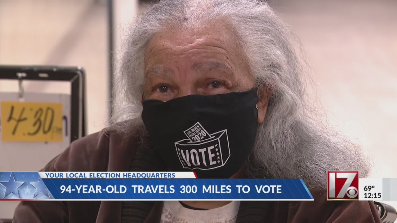 94-year-old woman travels 300 miles to vote early