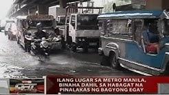 QRT: Ilang lugar sa Metro Manila, binaha dahil sa habagat na pinalakas ng bagyong Egay