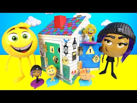 Thumbnail: The Emoji Movie Doorbell House Playset Toy with Hi-5, Jailbreak, Gene, Mashem Hatchems, Paw Patrol