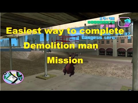 GTA Vice city Demolition Man mission | Complete it easily | Best Video.