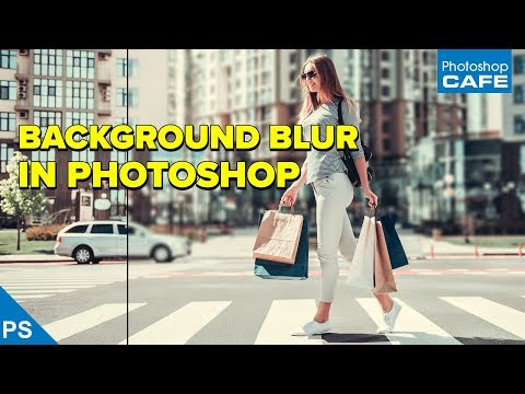 BLUR the BACKGROUND in PHOTOSHOP for a shallow Depth of field