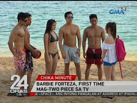 "24 Oras: Cast ng ""Meant To Be"", sizzling hot sa taping sa beach resort"