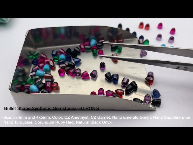 Bullet Shape Synthetic Gemstones cubic zirconia Nano and corundum manufacturer from China supplier