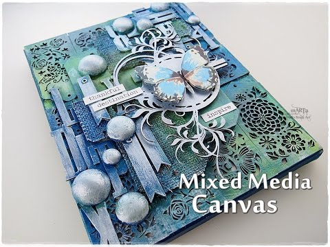 Texture Mixed Media Canvas Tutorial ♡ Maremi's Small Art ♡