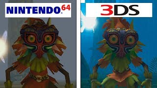 Zelda Majora S Mask Nintendo 64 Vs Nintendo 3DS 4K Graphics Comparison