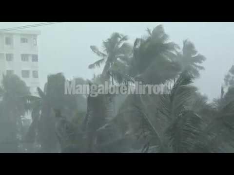 Heavy Wind With Rain Lashes Mangaluru City   ಮಂಗಳೂರಿನಲ್ಲಿ  ಬಿರುಗಾಳಿ ಮತ್ತು ಮಳೆ