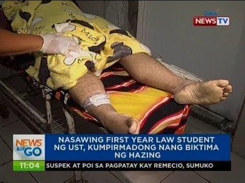 NTG: Nasawing first year law student ng UST, kumpirmado nang biktima ng hazing