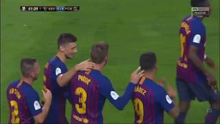 Barcelona vs Sevilla 2-1 Extended Highlights & All Goals (English Commentary) 12/08/2018 HD