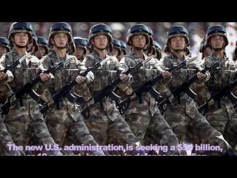 China's Weapons 2017 - China says 2017 military budget to expand around 7%