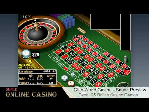 Club World Casino Sneak Preview - SuperOnlineCasino