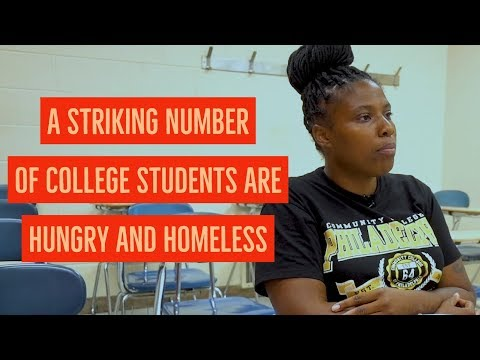 A Striking Number of College Students Are Hungry and Homeless