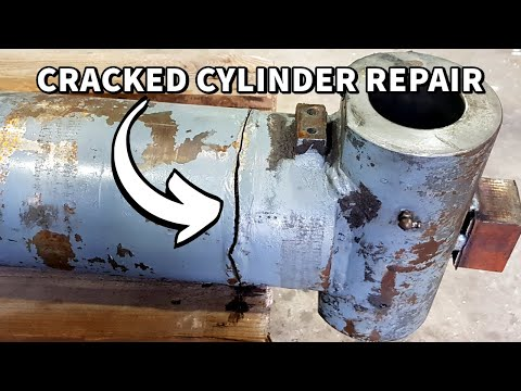 Cracked Excavator Hydraulic Cylinder Weld Repair | Machining & Welding