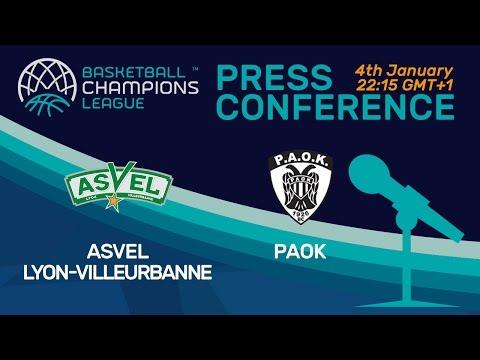 ASVEL Lyon-Villeurbanne v PAOK - Press Conference - Basketball Champions League