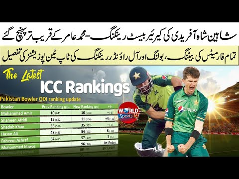 Shaheen gets career-best ranking | All formats latest ICC rankings | Pakistan vs South Africa 2021