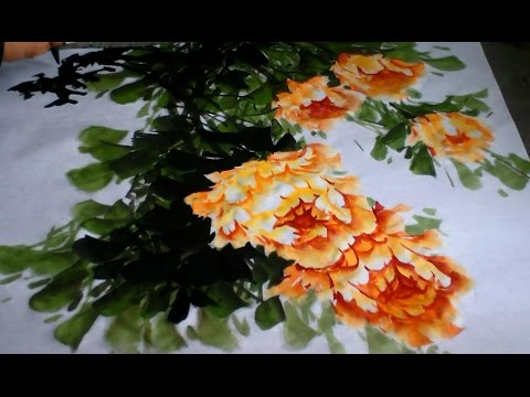 Chinese Brush Flowers Painting Techniques