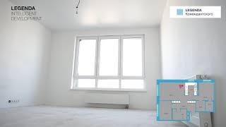 Планировка квартиры с двумя спальнями линейки XL