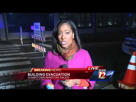 Breaking News:  Building evacuated in Downtown Winston-Salem