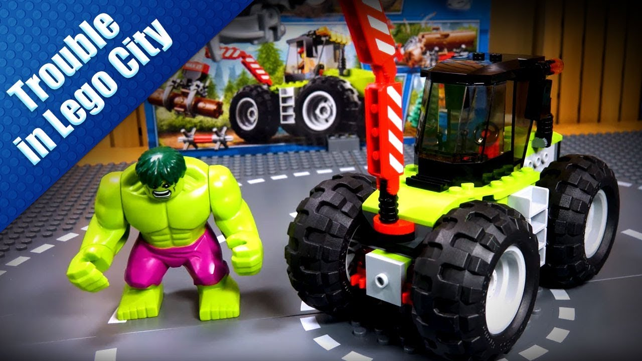 How to build a pickup truck crane with Hulk - Trouble in Lego City - Lắp ráp xe cần cẩu