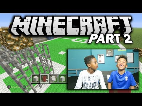 MINECRAFT SOCCER STADIUM BUILD!! | with ANNOYING BROTHER (TE