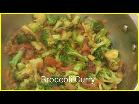 Broccoli Masala/Broccoli Curry/Side Dish For Fried Rice/How To Cook Broccoli/Simple Broccoli Recipe