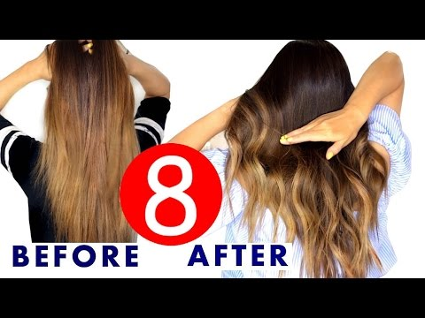 ★ 8 Easy HAIR Color & OMBRE HACKS   MakeupWearables HAIRSTYLES