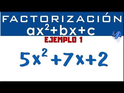 Factorización Trinomio De La Forma Ax2+bx+c