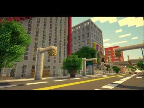 Minecraft карта - Огромный город!