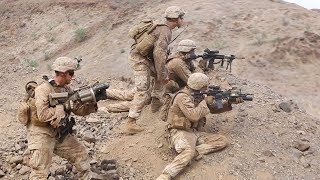 US Marines & French Soldiers Heavy Live Fire Assault Combat Training