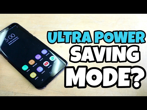 Samsung Galaxy S8 Plus: Ultra Power Saving Mode Is Important