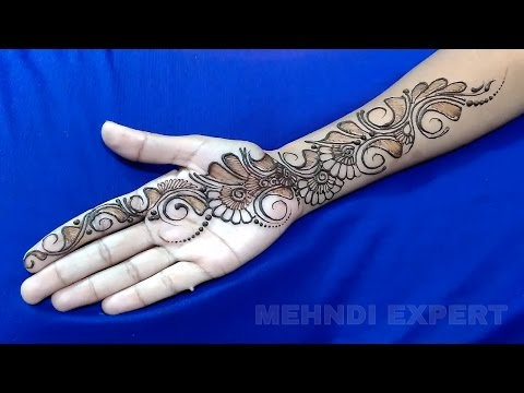 New Easy And Simple Arabic Henna Design For Hands Step By