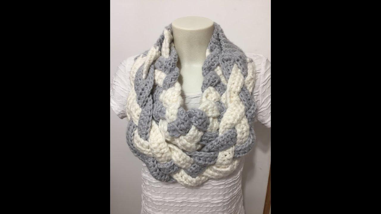 Tuto écharpe Double Tresse Au Crochet
