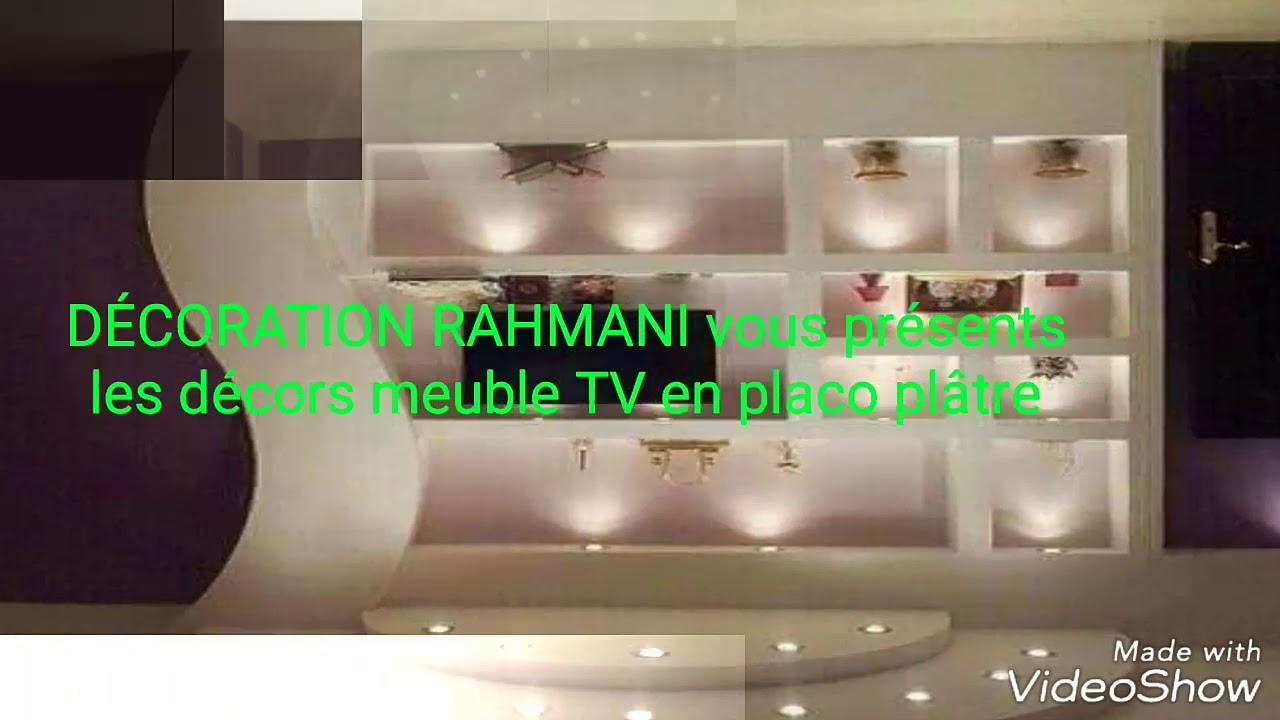 Decoration Placo Platre Rahmani Meubles Tv En Ba13 Youtube