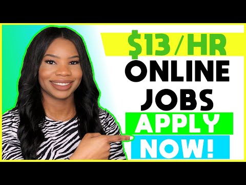 💵 $13 HOURLY Part-Time Online Work-From-Home Jobs! | Apply NOW!!